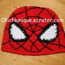 •◘• Spiderman!!  Custom Crochet Hat *Any Size Available* •◘•