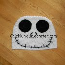 Nightmare Before Christmas, Jack Skellington Crochet Adult Size Hat