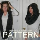 •Hickey Hider Hooded Scarf Wrap ◘CROCHET PATTERN◘ Lululemon