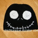 Nightmare Before Christmas, *BLACK* Jack Skellington Crochet Hat *Any Size Available*