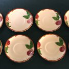 Vintage Franciscan Apple Saucers - Set of 8 - Made in USA