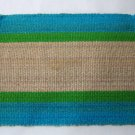 Woven Striped Placemats in Bright Summery Colors - Set of 4 - Use Outdoors or Indoors
