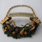 Merry Christmas Decanter or Bottle Collar - Holiday Cheer for Your Bottles of Cheer