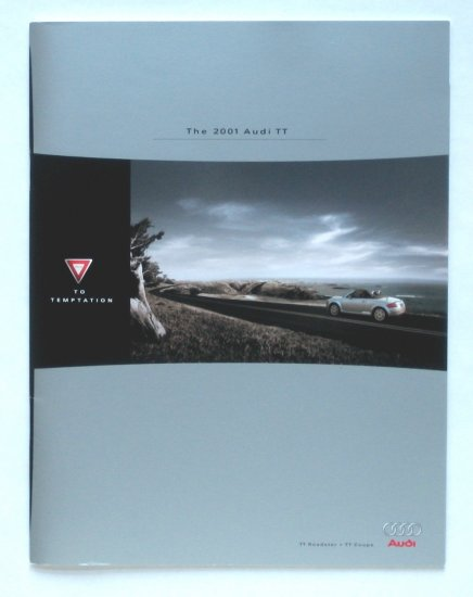 The 2001 Audi TT - Dealer Sales Brochure for Audi's High-Style Sports Car - Collectible