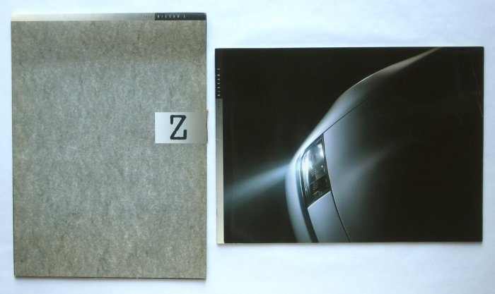Nissan Z Sales Brochure for Legendary 1990 Sports Car - In Original Slipcase - Rare Collectible