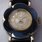 Vintage Sheffield Riviera Ladies Watch - MidCentury Mechanical Wristwatch With Flower Face