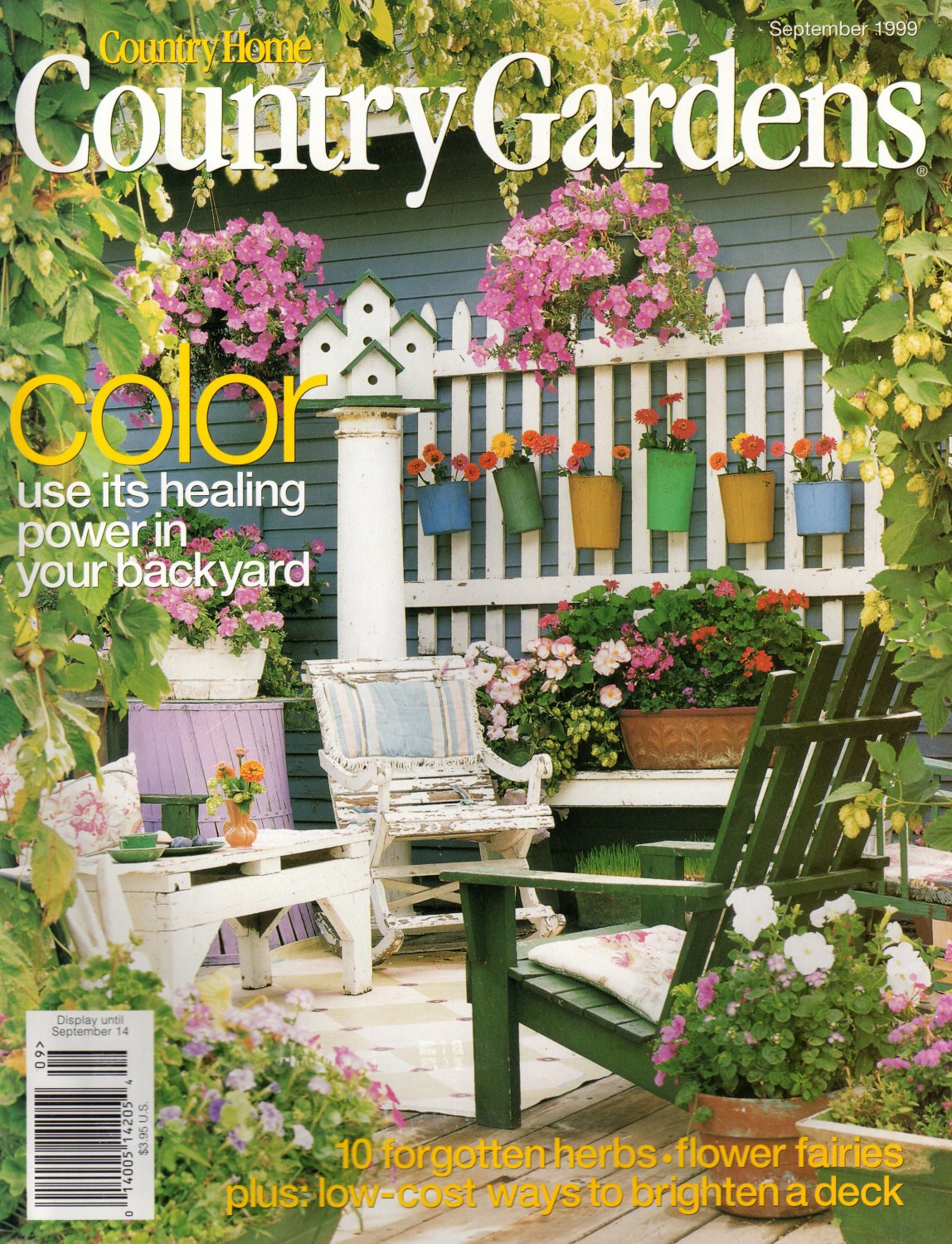 Country Gardens Magazine September 1999 Back Issue Volume 8 Issue 4