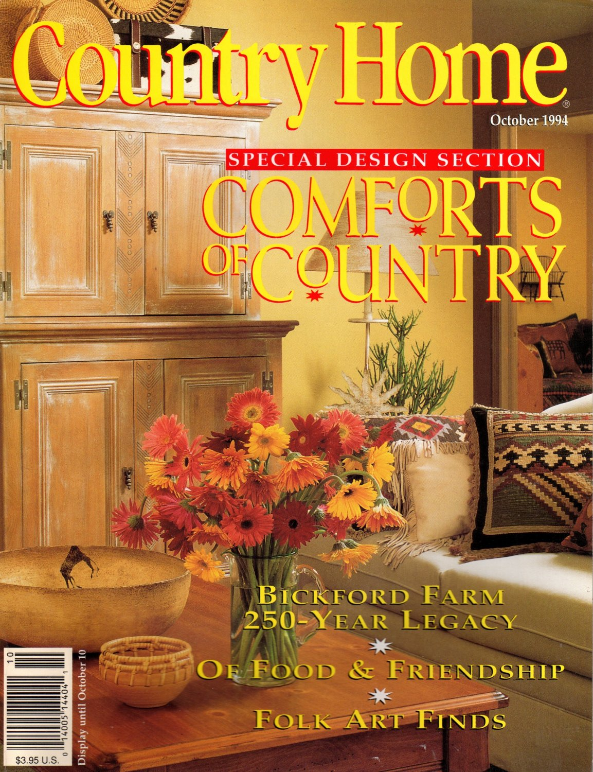 Country Home Magazine - October 1994 Back Issue - Volume ...