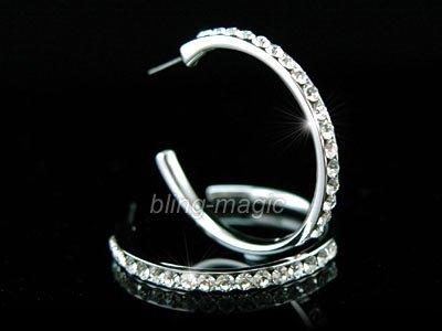 Quality Hoop Earrings use Swarovski Crystal SE004