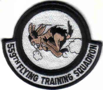 USAF 559TH FLYING TRAINING SQUADRON PATCH WAR AIRCRAFT PILOT