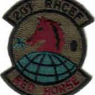USAF PATCH 201 RHCEF RED HORSE CIVIL ENGINEERING FLIGHT Fort Indiantown Gap, Pennsylvania