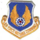 USAF PATCHES AIR FORCE MATERIEL COMMAND PATCH Wright-Patterson AFB, Ohio AIRPLANES BOMBS GUNS