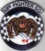 58TH FIGHTER SQUADRON USAF PATCH F-15 EAGLE FIGHTER JET WAR COMBAT PILOT Eglin AFB, Florida