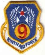 NINTH AIR FORCE MILITARY INSIGNIA PATCH Shaw AFB, South Carolina WAR AIRCRAFT PILOT CREW