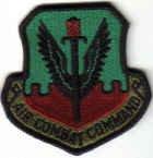 AIR COMBAT COMMAND USAF MILITARY UNIFORM PATCH Langley AFB, Virginia MAJCOM $3 PILOT INSIGNIA
