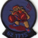 62 TFTS USAF PATCH $5 TACTICAL FIGHTER TRAINING SQUADRON WAR JET AIRCRAFT MACDILL AFB FLORIDA