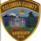 COLUMBIA COUNTY SHERIFF 1854 OREGON POLICE PATCH COPS CSI LAW OFFICER