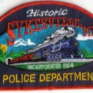 HISTORIC SYKESVILLE,MD POLICE DEPARTMENT PATCH MARYLAND COPS CSI LOCAMOTIVE TRAIN