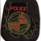 BALTIMORE COUNTY MARYLAND POLICE DEPT UNIFORM PATCH COPS CSI LAW OFFICER