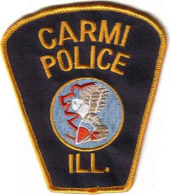 CARMI POLICE UNIFORM PATCH ILLINIOS COPS CSI LAW OFFICER JUSTICE