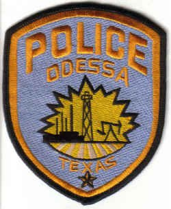 POLICE ODESSA TEXAS UNIFORM PATCH COPS CSI LAWMAN LAW OFFICER DRUGS GUNS CRIME