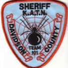 DAVIDSON COUNTY SHERIFF K.A.T.N. TEAM 101 NO.CAROLINA POLICE UNIFORM PATCH