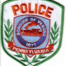PENNSYLVANIA POLICE BOROUGH OF VERONA 1871 UNIFORM PATCH COPS CSI LAW OFFICER