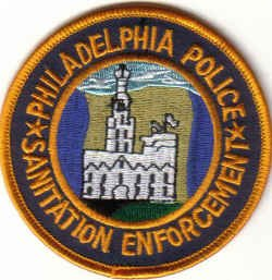 PHILADELPHIA POLICE SANITATION ENFORCEMENT PATCH LAW OFFICER COPS