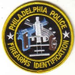 PHILADELPHIA POLICE FIREARMS IDENTIFICATION UNIFORM PATCH COPS CSI GUNS PISTOL RIFLE LAWMAN