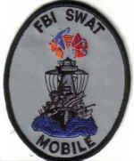 FBI SWAT MOBILE UNIFORM PATCH ALABAMA FEDERAL BEUREAU OF INVESTIGATION TEAM DRUGS GUNS CRIME