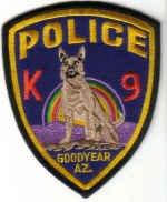 GOODYEAR AZ K9 POLICE UNIFORM PATCH ARIZONA COPS DOGS LAW OFFICER DRUGS CRIME