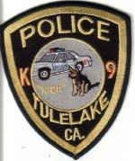 POLICE TULELAKE CA. K9 UNIFORM PATCH CALIFORNIA DOG COPS DRUGS GUNS CRIME STOPPER