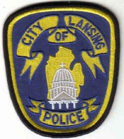CIYY OF LANSING POLICE UNIFORM PATCH MICHIGAN COPS CSI LAW OFFICER PATROLMAN