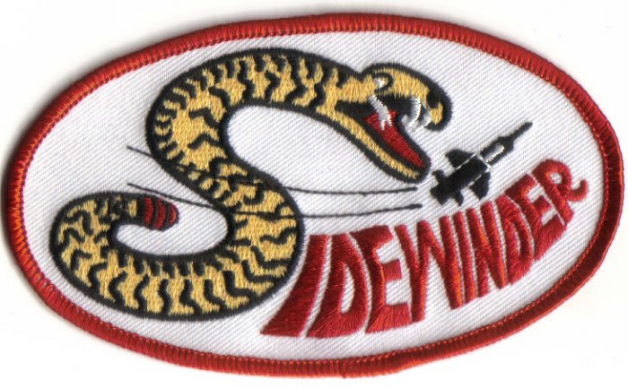 SIDEWINDER MISSILE PATCH $5 ARMY NAVY USMC USAF WAR COMBAT AIRCRAFT WEAPON