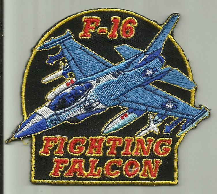 F-16 FIGHTING FALCON AIRCRAFT PATCH USAF PILOT CREW AVIATION USMC NAVY ARMY USA