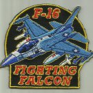F-16 FIGHTING FALCON AIRCRAFT PATCH USAF PILOT CREW AVIATION USMC NAVY ARMY USA