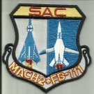 SAC FB-111 MACH 2 AIRCRAFT USAF PATCH PILOT CREW AVIATION USA JET AIRPLANE