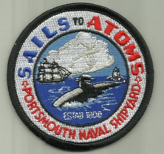 PORTSMOUTH NAVAL SHIPYARD U.S.NAVY MILITARY PATCH NEW HAMPSHIRE SAILOR BOAT USA.
