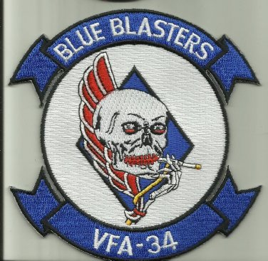 VFA-34 BLUE BLASTERS U.S.NAVY PATCH NAS OCEANA USA FA/18 AIRCRAFT PILOT SOLDIER