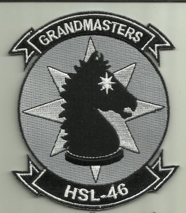 HSL- 46 GRANDMASTERS U.S.NAVY PATCH ANTISUB HELICOPTER SQDN HELO NAS MAYPORT USA