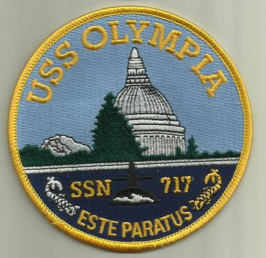 USS OLYMPIA SSN-717 US.NAVY PATCH nuclear-powered attack submarine SAILOR USA