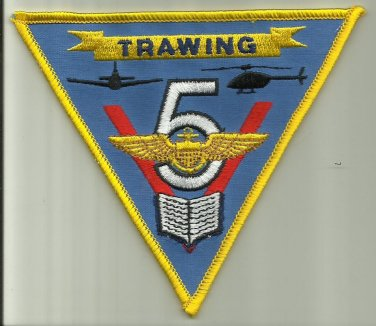 TRAWING 5 U.S.NAVY PATCH HELICOPTER PILOT AIRCRAFT AVIATOR NAS WHITING FIELD USA