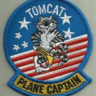 TOMCAT PLANE CAPTAIN U.S.NAVY PATCH F-14 FIGHTER AIRCRAFT PILOT AVIATION WEAPON