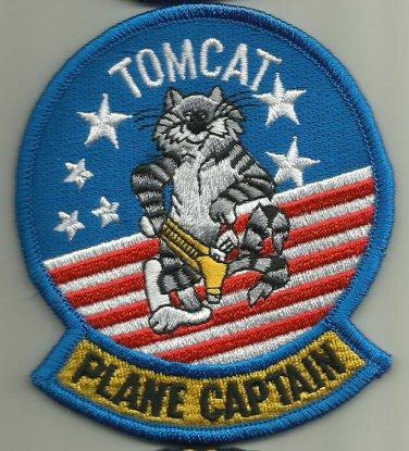 TOMCAT PLANE CAPTAIN U.S.NAVY PATCH F-14 FIGHTER AIRCRAFT PILOT AVIATION WEAPON