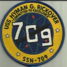 USS HYMAN G RICKOVER SSN-709 US.NAVY PATCH NUCLEAR SUBMARINE SAILOR USA NUKE WAR
