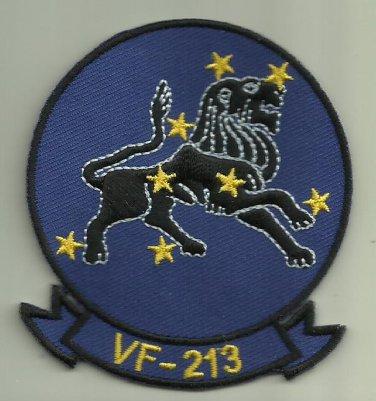 VF-213 U.S. NAVY PATCH BLACKLIONS WAR FIGHTERJET AIRCRAFT PILOT AVIATOR OCEANA