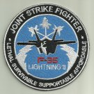 F-35 LIGHTNING II JOINT STRIKE FIGHTER AIRCRAFT PATCH USAF PILOT FLY USA