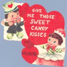 Vintage VALENTINE Card CANDY PEOPLE Personified Food