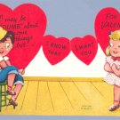 Vintage VALENTINE CARD I May be Dumb DUNCE Fold-Out