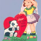 Vintage VALENTINE CARD I Can't BEAR pop-up PANDA Curran